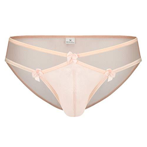 QIAN'S Herren-Unterwäsche,Boxershorts Männer,Pantie Gaze Sexy Spitze High Elastic Dessous Schlüpfer Unterhosen Unterwäsche