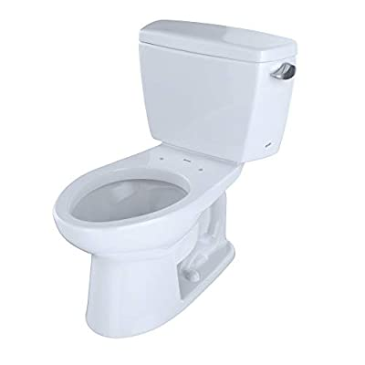 Toto CST744SFR.10No.01 Drake Two-Piece Toilet, 1.6-GPF-Right Hand Trip Lever, Cotton