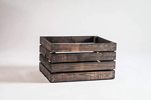 Darla'Studio 66 Vintage Stained Rustic Wood Crate