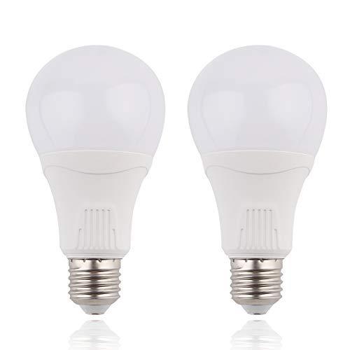 LED人感センサー電球 - E26 15W 100W相当人感センサー/明暗センサー/レーダーセンサー付 センサーライト 自動点灯/消灯 人感センサーライト 広配光タイプ 屋外センサーライト 防犯夜灯 自動点灯/消灯 消し忘れ防止 省エネ 長寿命 昼白色 2