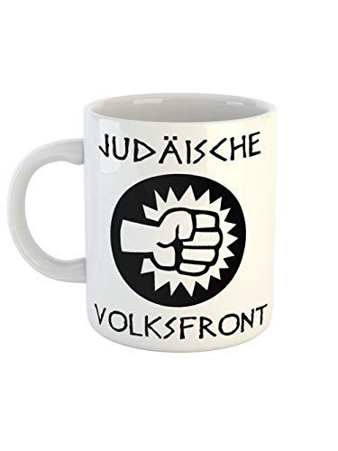 clothinx Kaffeetasse mit Aufdruck Judäische Volksfront | Kult Tasse Zum Beliebten Filmklassiker | Schließ Dich Der Revolution An