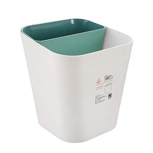 XLSQW droog en nat scheiden prullenbak, geclassificeerd afval papier emmer, open type vuilnisbak, geschikt voor slaapkamer woonkamer keuken