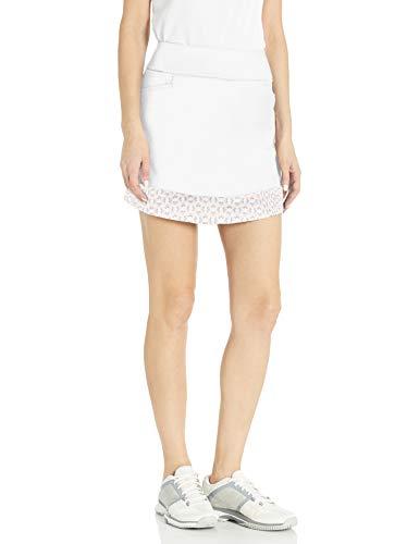adidas Ultimate365 Printed Knit Skort Falda pantalón, Blanco, Medium para Mujer