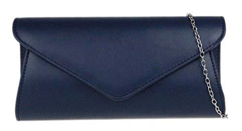 Girly Handbags del bolso de embrague Llanura - Azul Marino