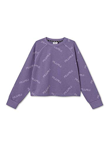FILA Mädchen TEENS GIRLS JAMIA AOP cropped crew sweat Sweatshirt, Purple Haze, 146/152