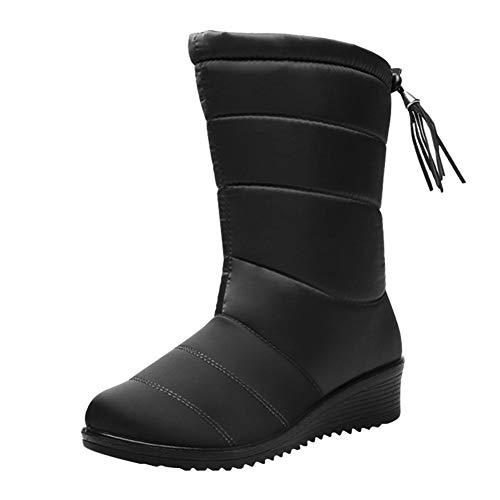 Victoy Damen Schneestiefel, rutschfest, wasserdicht, Sneaker, Stiefel für Outdoor Winterwärme, Schwarz (Schwarz) - 2mb2wx0tt2fs9rn2D05