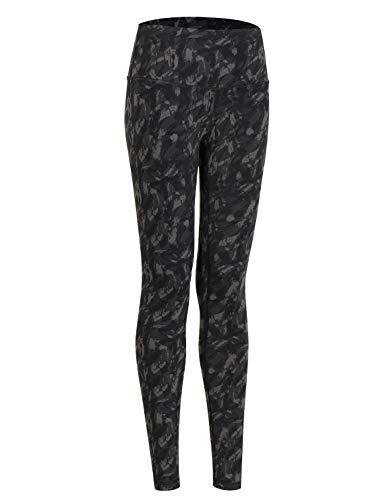 CRZ YOGA Mujer Tight Deportivas Leggins elásticas Cintura Alta para Yoga y Ejercicio-71cm Camo Multi 3 42
