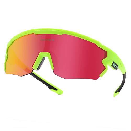 BRZSACR Gafas De Sol Polarizadas para Ciclismo, UV 400 Protección Gafas Deportivas...