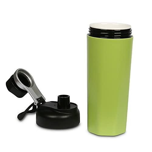 Water Bottle, Leak Proof Ceramic Travel Mug, BPA Free Drinking Flask,...