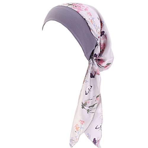YONKOUNY Cancer Turbante Quimioterapia Para Mujeres Elegante Verano Sombrero de Chemo Oncológico Bufanda de La Cabeza Cómodo Tejido De Seda Headwear Gorro Noche Pèrdida de Pelo Cabello (#9)