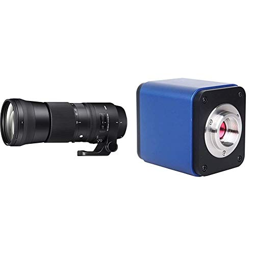 Sigma 150-600 mm F5-6.3 DG OS HSM Contemporary Canon Mount Lens & Walimex Pro UV Filter Slim MC 95 mm Black
