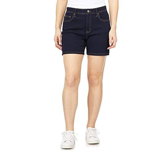 Angels Forever Young Women's 360 Sculpt Mid Thigh Shorts, Rinse, 14