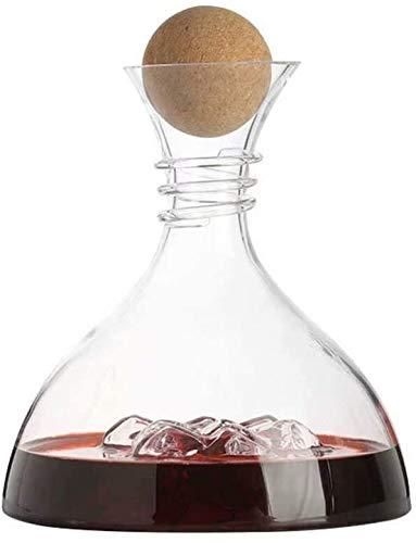 DYB Juego de decantador de whisky con tapón de roble y abridor de cepillo de taza