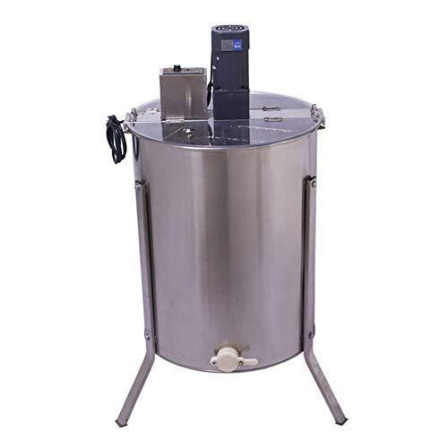 PRIT2016 Extractor de Miel eléctrico de Acero Inoxidable con 4 Marcos, con Cubierta y Salida y Patas