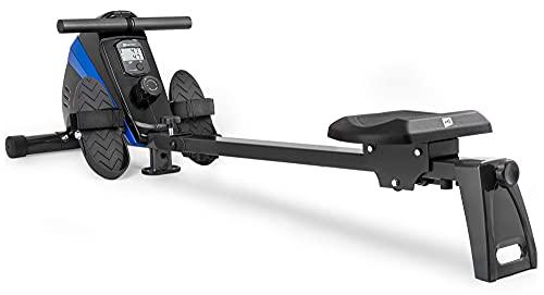 Hop-Sport Rameur d'appartement HS-030R Boost - Rameur Pliable, 10 Niveaux de résistance, Système de Freinage Magnétique - Machine à Ramer équipée de l'ordinateur (Bleu)