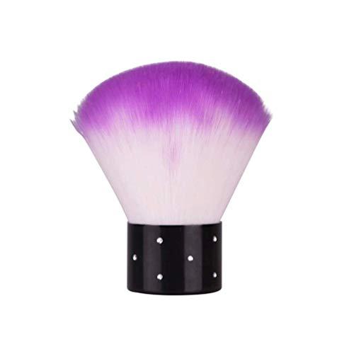 HZWLF Nail Art Tool, Nail Art Dust Clean Brush Acrylic UV Nail Gel Dust Power Remover Cleaner Brush (Couleur aléatoire)