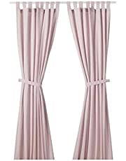 Double side curtains, pink color, IKEA
