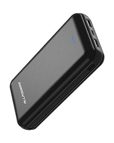 ALLPOWERS Powerbank 24000mAh Externer Akku USB C & Micro Input Handy Ladegerät mit LED für iPhone X/8/8 Plus/7/6s/6 Plus, iPad, Smartphone, Huawei, Samsung und Tablet