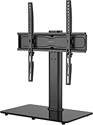 COMPATIBILITY - Universal stand fits most 26 32 37 40 42 47 50 55 inch TVs; VESA patterns: 100x100/200x100/200x200/300x200/300x300/400x200/400x300/400x400 mm, it is compatible with TV brands such as Samsung LG Electronics Sony Sharp Panasonic Philips...