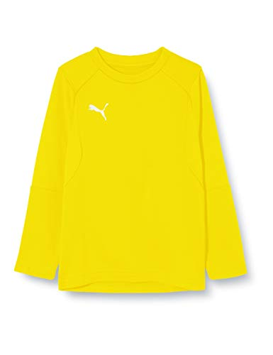 PUMA Kinder LIGA Training Sweat Jr Sweatshirt, Cyber Yellow Black, 152
