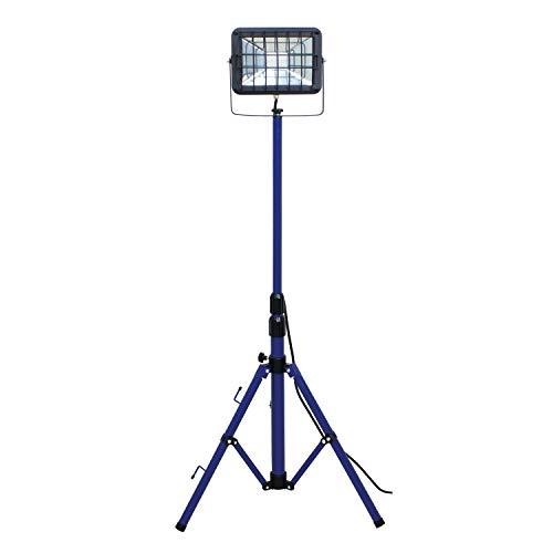 as - Schwabe chip-LED-spot 30 W op statief, IP 65 bouwlamp voor buiten en bouwplaats, blauw a_plus, 1 stuk 30 Watt Slimline Chip Led