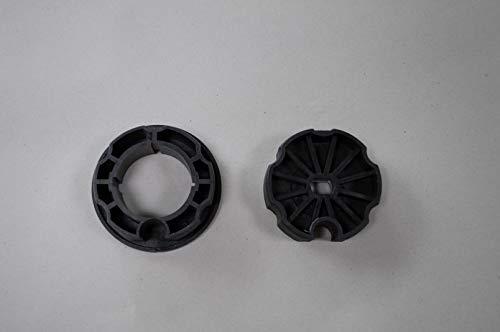 Vana deutschland GmbH - Adaptador para toldo, corona de motor y Runner para motor de toldo, motor tubular, eje redondo, 70 mm/80 mm (80 mm, color negro)
