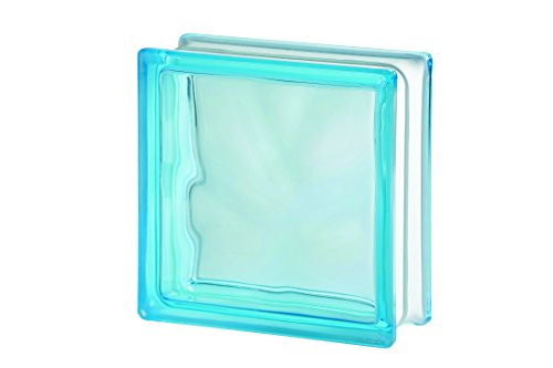 10x Glasbaustein Wolke azur 19x19 cm - 10er Sparpack