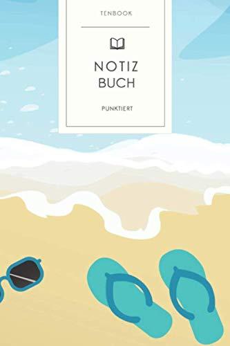 Notizbuch punktiert: Tropischer Sommerurlaub. Tagebuch, Bullet Journal, Handlettering, Skizzenbuch oder Erfolgsjournal. Gepunktet 120 Seiten. Soft Cover 6x9 Zoll, ca. DIN A5 15x22cm.