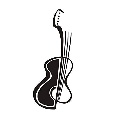 Hoge kwaliteit knutselen afneembare gitaar muziek behang woonkamer kunst vinyl zelfklevende decoratie thuis 43 x 109 cm