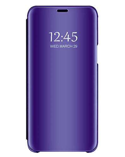 Bakicey iPhone 11 Hülle, Spiegel Handyhülle Schutzhülle Flip Case Schutz Tasche mit Standfunktion 360 Grad hülle [Anti-Scratch] Tasche Case Cover für iPhone 11 Pro Max (Dunkelviolett, iPhone 11)