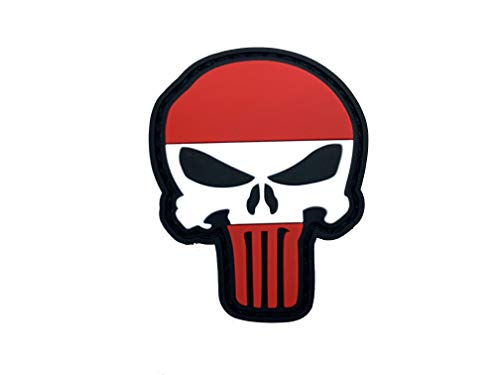 Oostenrijkse vlag Punisher Airsoft PVC patch