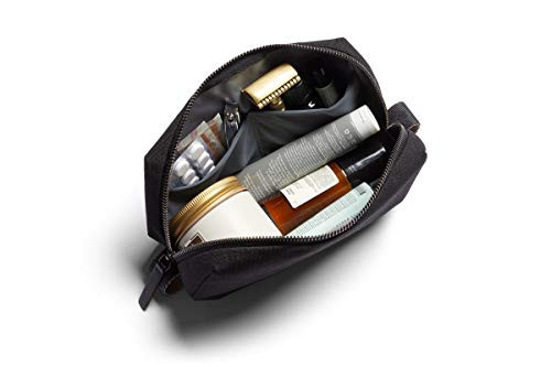 Bellroy Dopp Kit, water-resistant woven toiletry travel bag (toiletries, cologne, shaving accessories, hairbrush, toothbrush) - Black