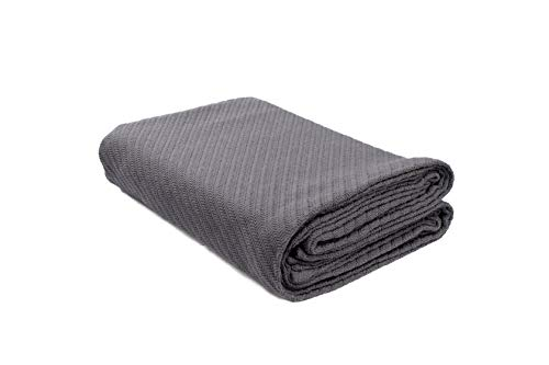 DG Collections Cotton Breathable Thermal Blanket - Queen (90x90 in) Grey, Snuggle in These Super Soft Cozy Cotton Blankets - Perfect for Layering Any Bed - Provides Comfort and Warmth for Years