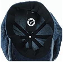 WITHMOONS Sombreros Gorras Boinas Bombines Denim Cotton Newsboy Hat Baker Boy Beret Flat Cap KR3613