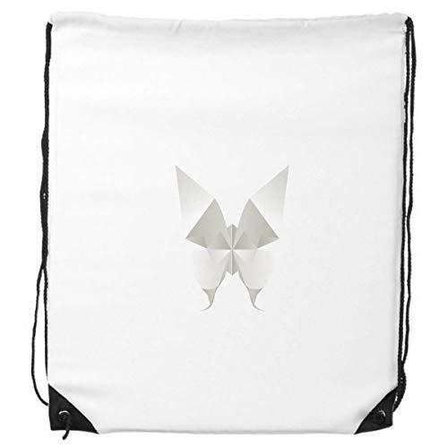 DIYthinker Modelo Blanco de la Mariposa Abstracta de Origami morral del Lazo de Compras Deportes Bolsas de Regalo