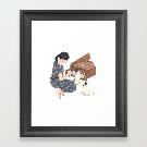 Toy Piano Duet Framed Art Print by schinako | Society6