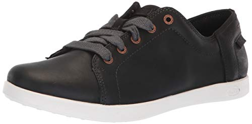 Chaco Women's Ionia Leather Lace Up Shoe, Black, 10.5 M US