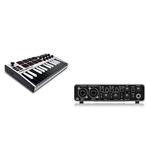 Akai Professional Mpk Mini Mk3 White Teclado Controlador Midi Usb De 25 Teclas Con 8 Drum Pads + Behringer U-Phoria Umc204Hd Interface De Audio/Midi Usb