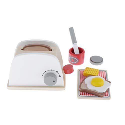 Sharplace Cafetera de Madera / Pan / Máquina Licuadora Educativa Finge Que Estás Jugando Juguetes de Cocina - Maquina de Pan