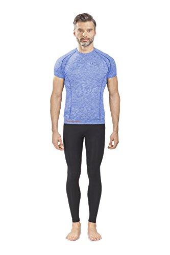 EMMITOU Duo Active T-Shirt Hommes 01, Melange Bleu, XXL