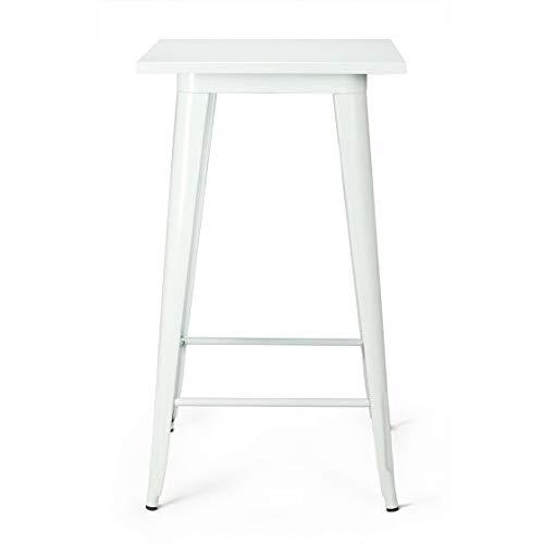 Vintahome Tisch Tolix Stahl Weiß