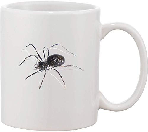 Taza de cermica con diseo de araa gigante