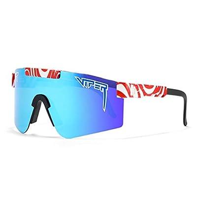 HANHUI Original Pit Viper Sport Polarized Sunglasses for Men and Women Outdoor Windproof Eyewear UV Mirrored Lens Classic Eyewear (C21)