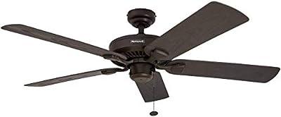 Honeywell Belmar 52-Inch Indoor/Outdoor Ceiling Fan, Five Damp Rated Fan Blades, Bronze from Honeywell