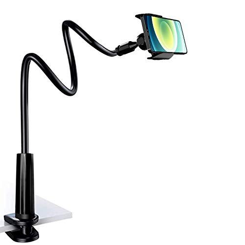 Handyhalterung Bett, PEYOU 33.5 Zoll Schwanenhals Halterung für Schreibtisch, Flexibler 360 Drehhalterung Verstellbare schwanenhals handyhalterung universal Kompatibel mit iPhone 12 11 Pro Xs max