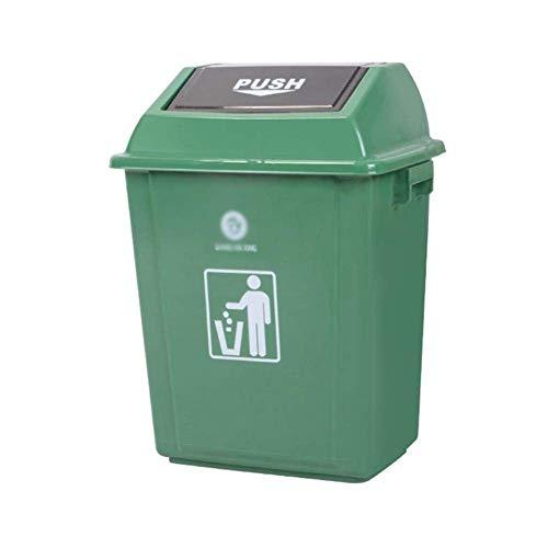 HJYSQX Cubo de Basura Grande Impermeable Comercial al Aire Libre para el hogar para baño, Oficina, Cocina Bote de Basura de Alta Capacidad Cubierto de Basura Desodorante Bote de Basura Misceláneas
