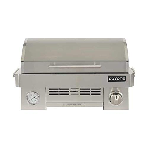 Coyote Outdoor C1PORTLP Infinity Burner 200 Square Inch Portable Propane Gas Grill, Silver