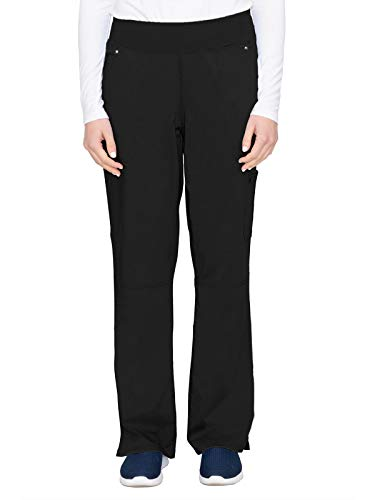 healing hands 9133 Women's Tori Yoga Waistband Scrub Pant Black MT