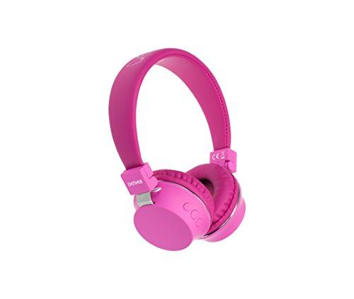 Denver 'BTH-205' Bluetooth On-Ear Kopfhörer mit Freisprechfunktion, AUX-Eingang Pink