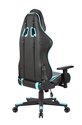 Newskill Kitsune - Silla gaming profesional (Inclinación y altura regulable, reposabrazos 2D ajustables, base en nylon, reclinable 180º), Color Azul